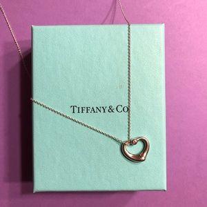 TIFFANY & CO Open Heart Necklace